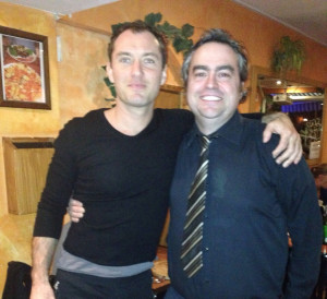Great night with Jude Law
